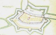 Plaatje van oude vesting Weesp